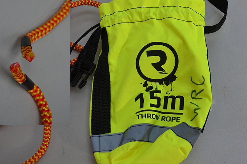 defective Throw Bag Rescue Line