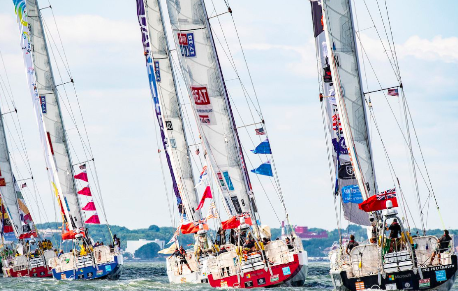 Clipper Round the World Yacht Race fleet 2017-2018 departs from New York