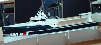 Amels unveils axe-bow support vessel