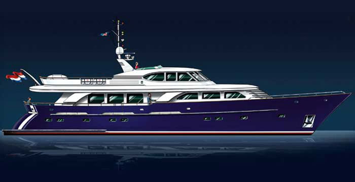 Raised pilot house motor yacht