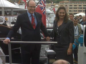 HSH Prince Albert of Monaco makes his appearance