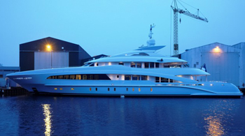 Superyacht My Satori has been delivered to her owner and christened at the Monaco Grand Prix.