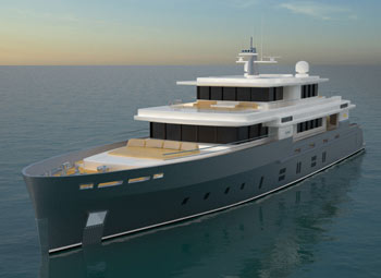 Kingship debut only 42m superyacht with private master deck