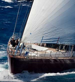 Wind gods smile on Panthalassa in Race Two of Perini Navi Cup 2011