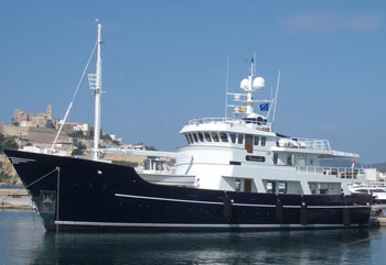 Fire damages superyacht docked in Jersey