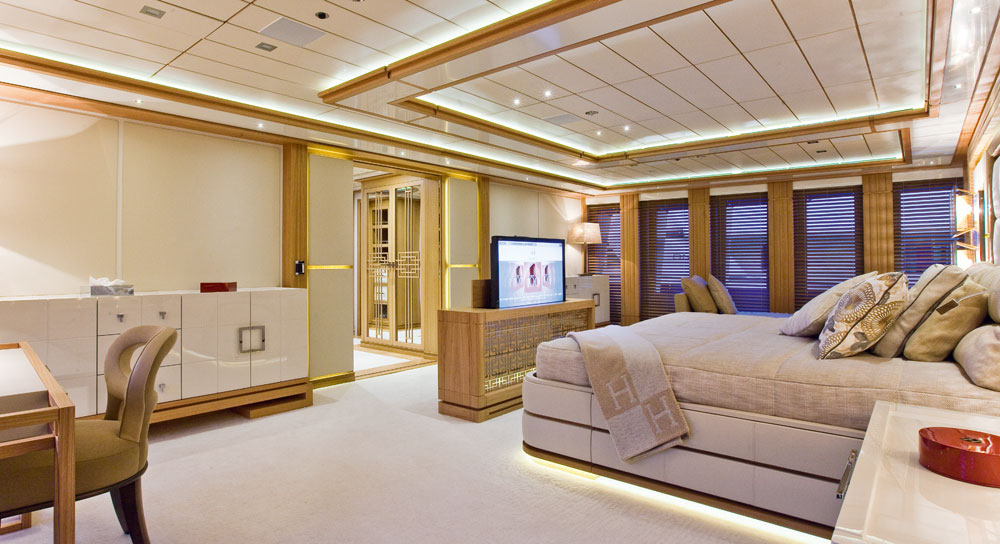 Inside the guest master stateroom
