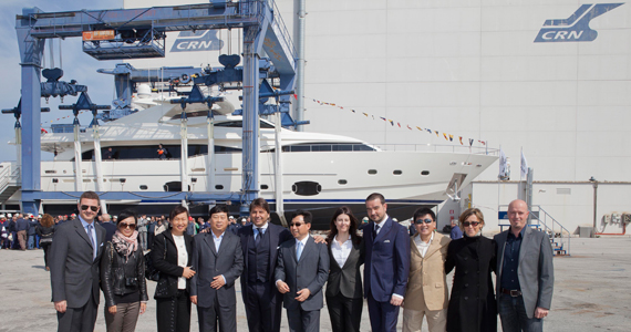 The latest Custom Line 112 Next has hit the water at the Ferretti Group's ...