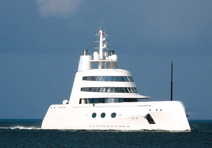 Yacht A, by Philippe Starck