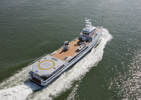 Video gar on support vessel for superyacht - Vezel tuinders ...