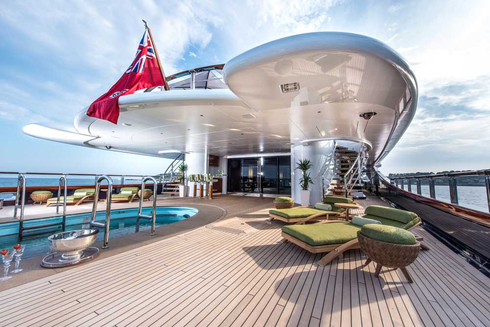 On board Oceanco superyacht Nirvana