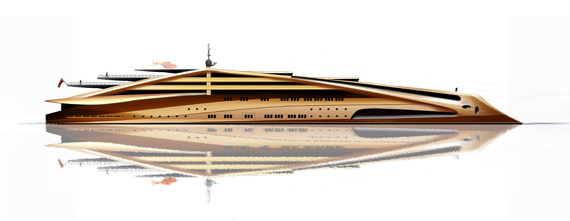Superyachten concept  The superyacht that thinks it's a violin