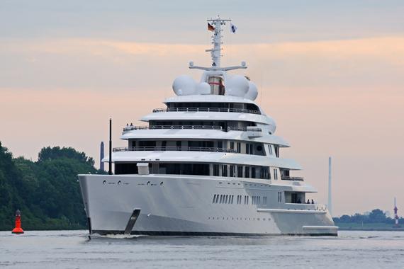 Breaking News World S Largest Superyacht Azzam On Sea Trials