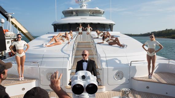 Superyacht Arianna Stars In Pitbull Charlie Sheen Video