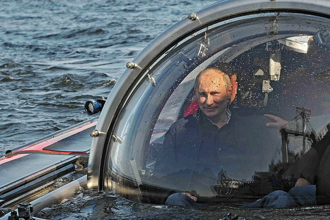 Vladimir Putin on superyacht sub