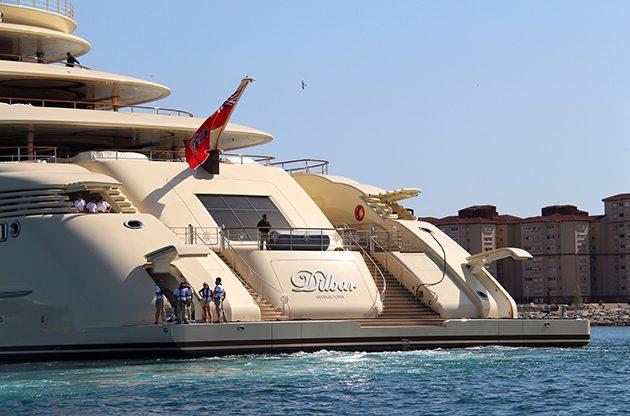 Dilbar Reaches Gibraltar On Maiden Voyage Superyacht World