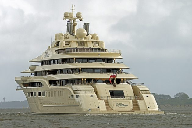 world s biggest superyacht dilbar handed over   superyacht