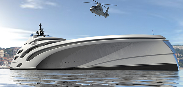 120m trimaran concept from Echo Yachts - SuperYacht World