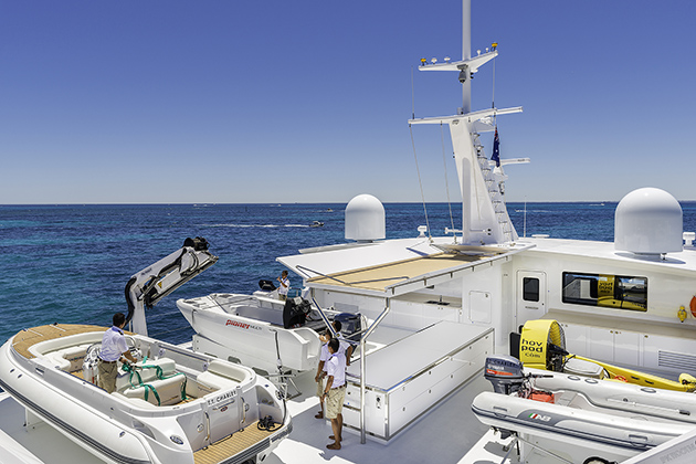 Echo yachts launch 46 metre support catamaran charley for Charley s fishing supply