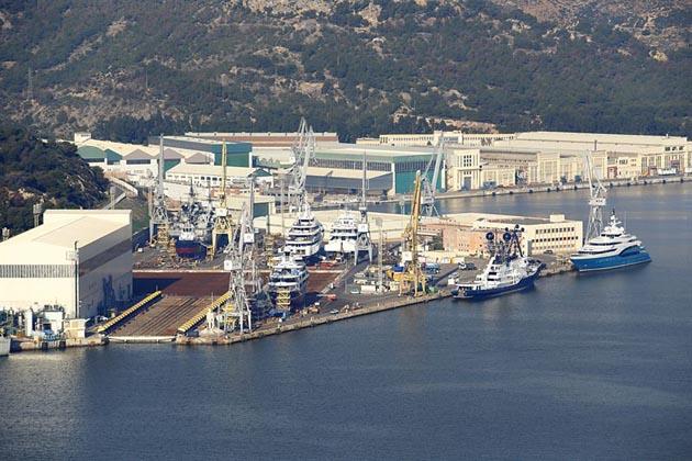 Navatia shipyard is located in Cartagena, Spain