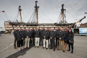 Delegates at HMS Victory / Photo courtesy of Superyacht UK