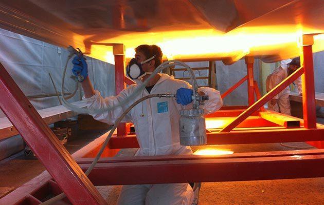Solent Refit paint shop