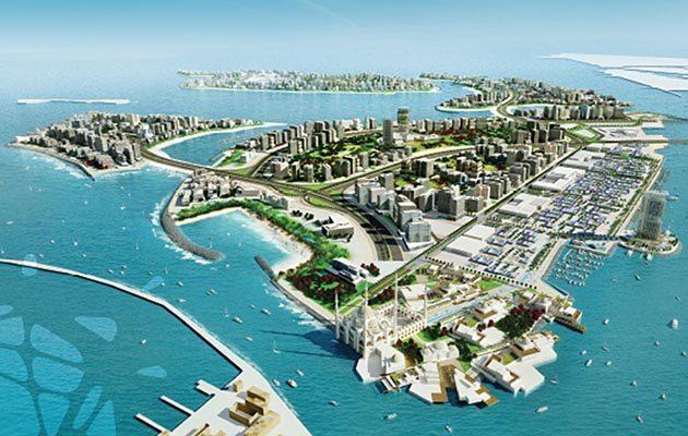 Nakheel development in Deira islands