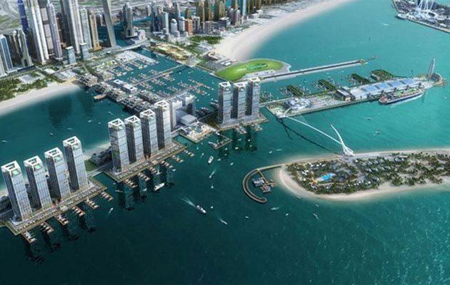 Dubai Harbour marina project