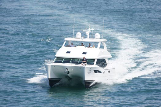 Quintessence is the first PC52 power catamaran built by the Taiwan-based shipyard