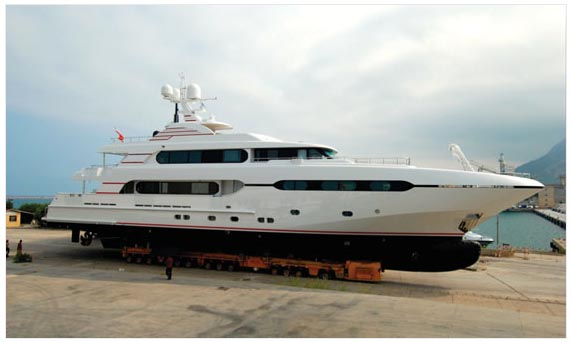 Project Sunset, the second vessel in the Sunrise 45-metre series