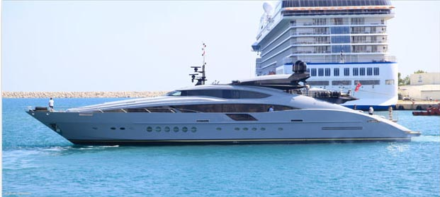 The 45m motoryacht was the first in the Palmer Johnson Supersport 150 series