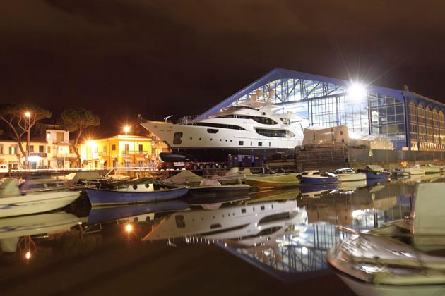 45 yachts are under construction at Benetti's  Livorno and Viareggio sites