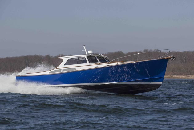 Zurn 50 high speed commuter yacht built by New England Boatworks