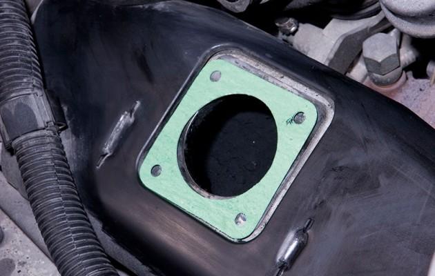 Install a T4 egr valve delete kit