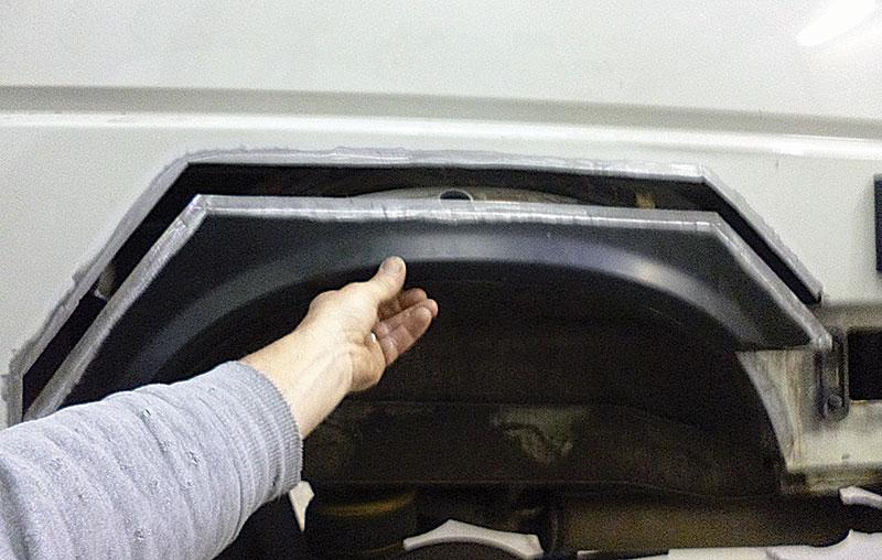 VW T4 rear wheelarch repair