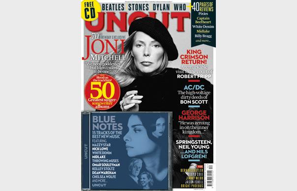 The new Uncut: Joni Mitchell, Robert Fripp, AC/DC, George