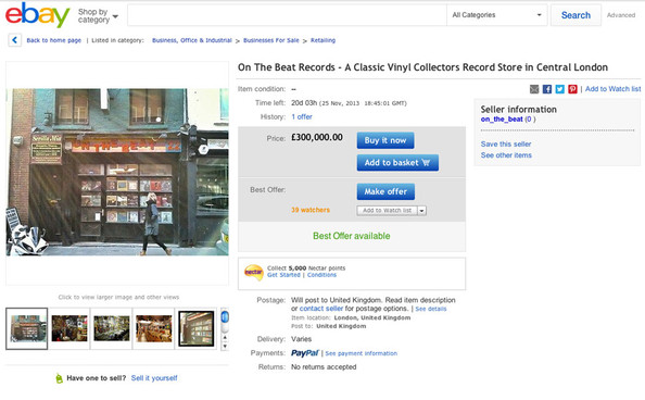 London record store for sale on eBay - Uncut