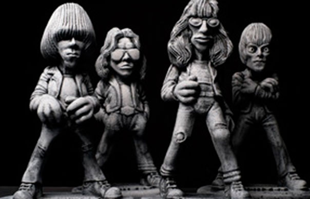see what the ramones look like as garden gnomes uncut. Black Bedroom Furniture Sets. Home Design Ideas