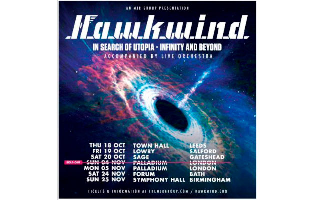 Hawkwind Extend Orchestral Tour In Search Of Utopia