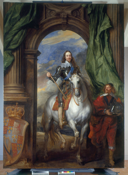 Charles I on Horseback with M de St Antoine 1633, from The Royal Collection