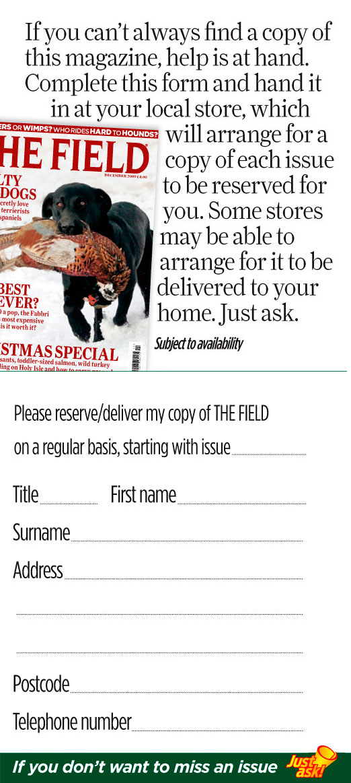 Newsagent form