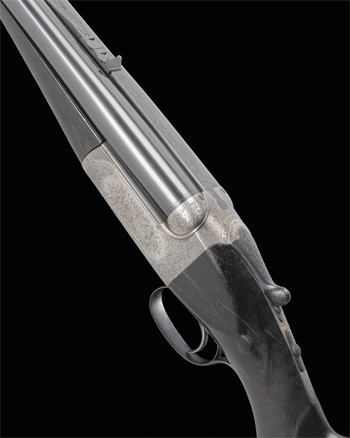 Westley Richards .577 single-trigger detachable-boxlock ejector rifle, no 16650