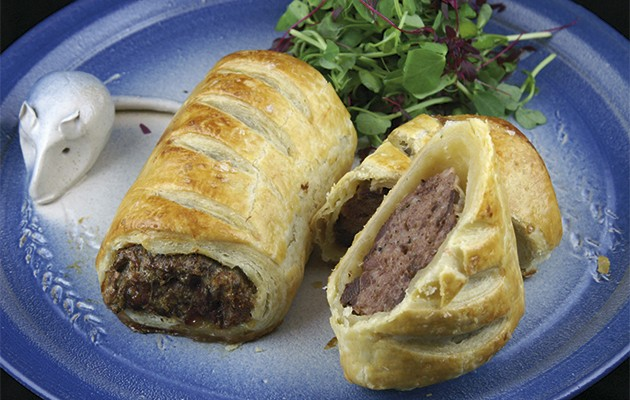 Woodpigeon sausage rolls