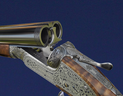 William & Son 12-bore sidelock. Side-by-side