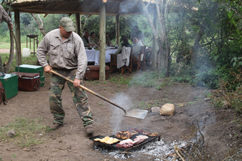 Argentinian dove shooting steaks on the sizzle