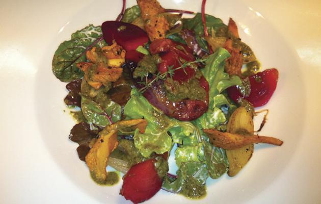 Smoked grouse salad.