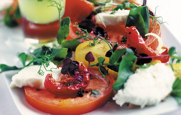 Salad of heritage tomatoes
