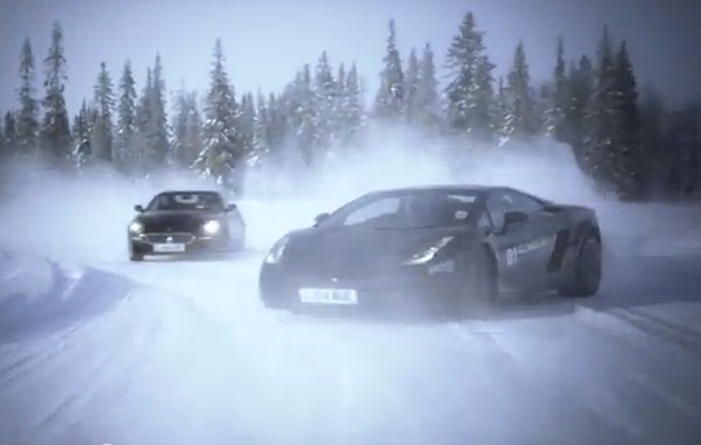 Video: ice driving in supercars - The Field