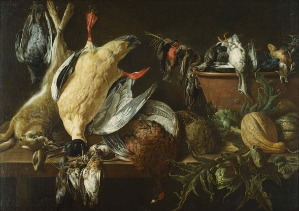 Adriaen van Utrecht still life with game and vegetables