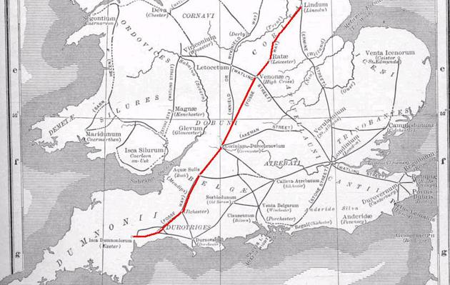 Fosse Way Map Roman roads, dead ahead   The Field