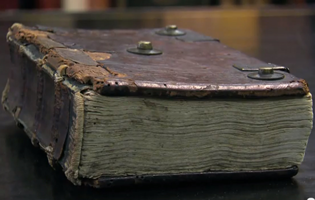 The oldest fishing book. A Benedictine monk whiled away his hours writing about fishing in the back of his Latin breviary.